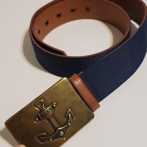 Lauren Ralph Lauren Navy Classic Nautical Belt